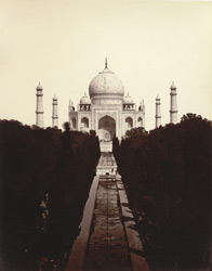 The Taj Mahal, from the top of the gateway, Agra.